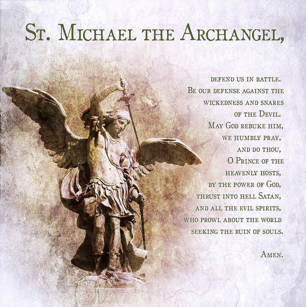 Satan Digital Art - Prayer To St. Michael The Archangel by Andy Schmalen