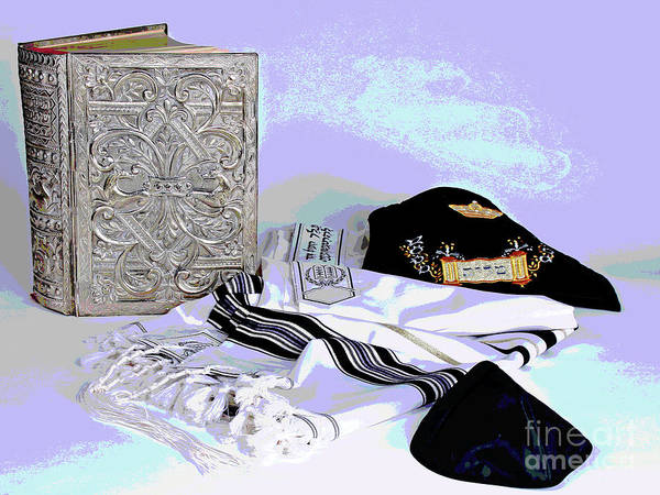 Photograph - Prayers And Tallit by Larry Oskin