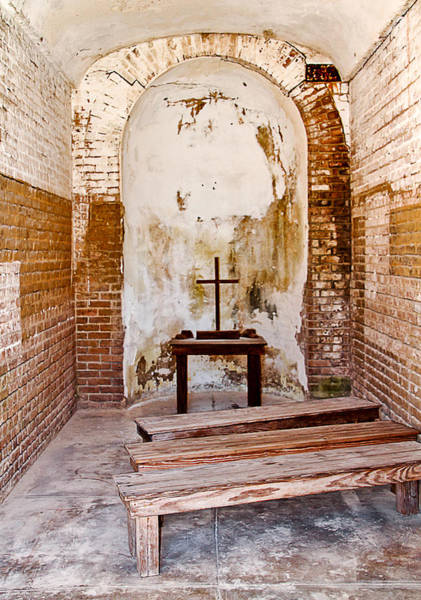 Photograph - Prayers At Fort Zachary Taylor by Bob Slitzan