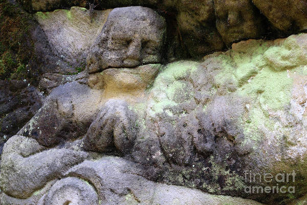 Wall Art - Photograph - Praying Angel On Old Stone Altar by Michal Boubin