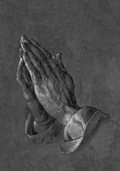Drawing - Praying Hands 1508 by Movie Poster Prints