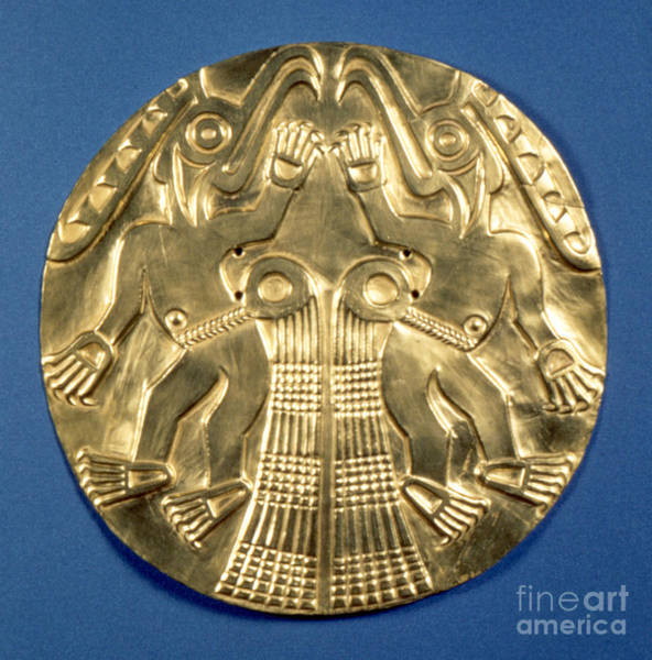 Photograph - Pre-columbian Gold, 1000 Ad by Granger