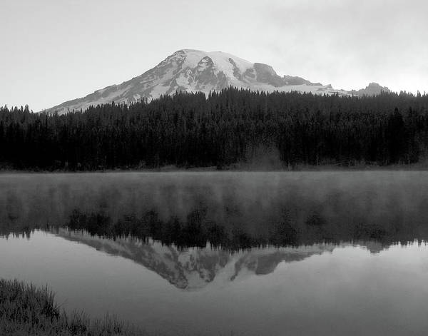 Photograph - Pre Dawn At Reflection Lake, Mt Rainier, Washington by Michael Bessler
