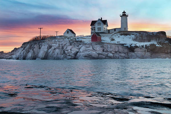 Photograph - Pre-dawn Colors At Cape Neddick Lighthouse by Kristen Wilkinson