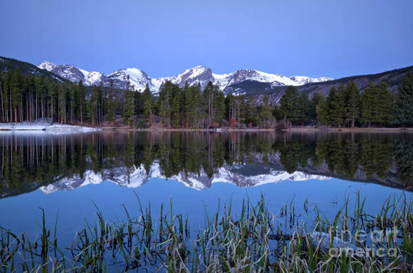 Wall Art - Photograph - Pre Dawn Image Of The Continental Divide And A Sprague Lake Refl by Ronda Kimbrow