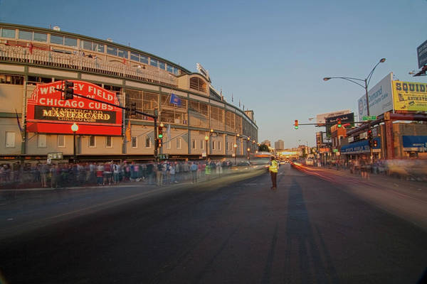 Photograph - Pre-game Cubs Traffic by Sven Brogren
