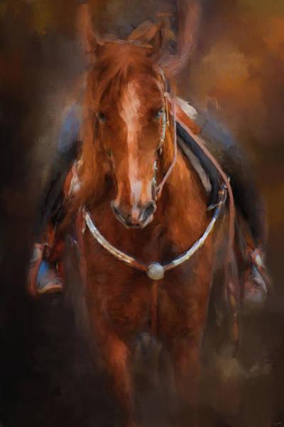 Painting - Pre Show Ride Horse Art by Jai Johnson