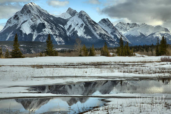 Photograph - Preachers Point Icy Reflections by Adam Jewell