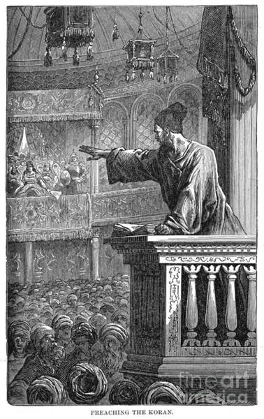 Drawing - Preaching The Koran, C1894.  by Granger