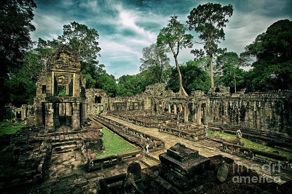 Photograph - Preah Khan Temple, Angkor Archaeological Park, Siem Reap Province, Cambodia by Sam Antonio Photography
