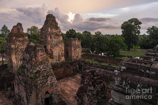 Angkor Wall Art - Photograph - Preah Khan Temple Ruins by Mike Reid