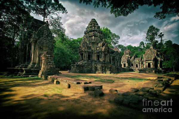 Photograph - Preah Pithu Temple In Angkor Wat Archaeological Park, Cambodia by Sam Antonio Photography