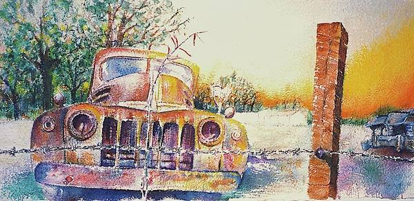 Collector Car Painting - Precious Memories by Curtis James