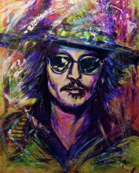 Wall Art - Painting - Precious Metals, Johnny Depp by Debi Starr