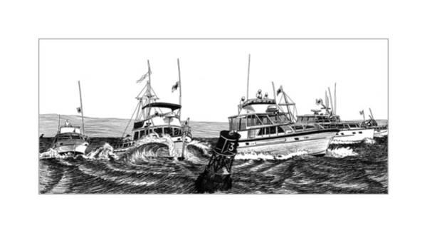 Log Drawing - Predicted Log Racing by Jack Pumphrey