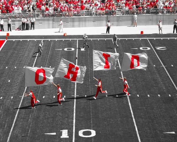 Ohio State Football Photograph - Pregame by Kenneth Krolikowski