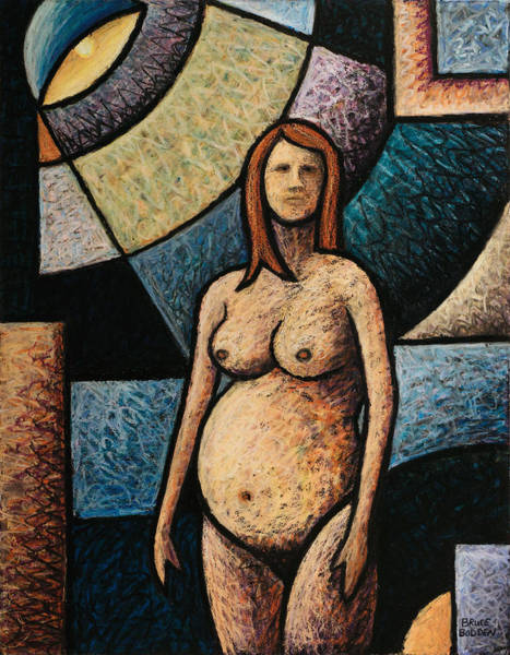 Pregnancy Drawing - Pregnant by Bruce Bodden