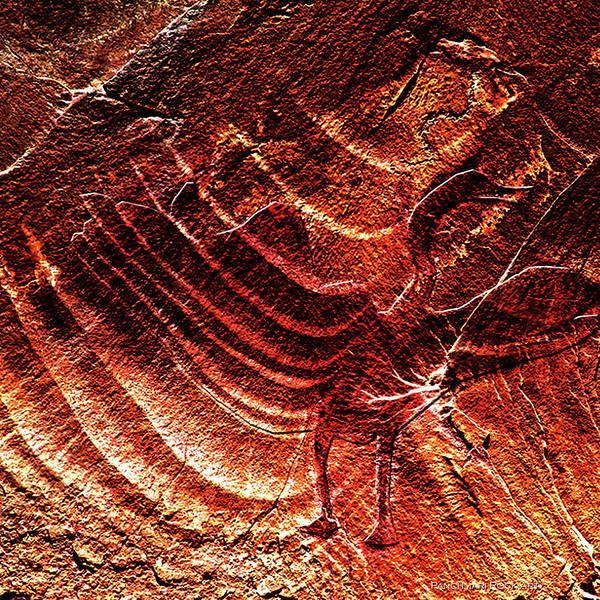 Petroglyphs Digital Art - Prehistoric Bird by Asok Mukhopadhyay