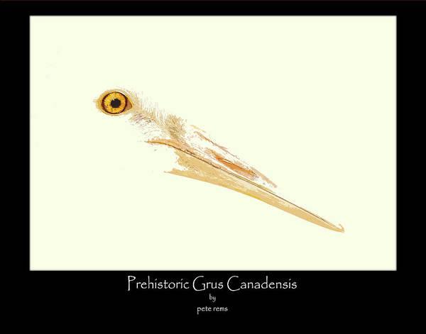 Digital Art - prehistoric Grus by Pete Rems