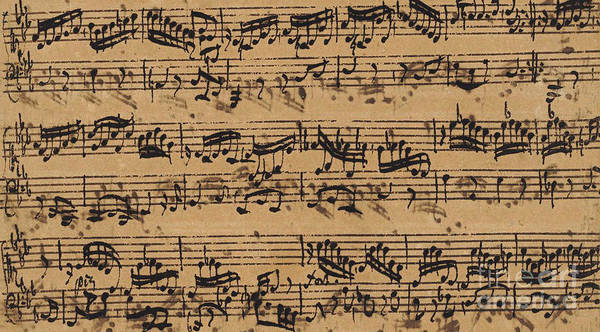 Baroque Drawing - Prelude, Fugue And Allegro In E Flat by Johann Sebastian Bach