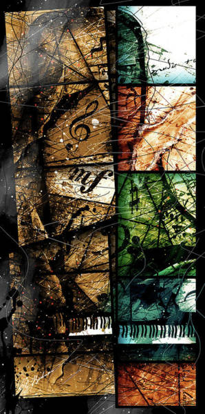 Grand Piano Digital Art - Preludio V by Gary Bodnar