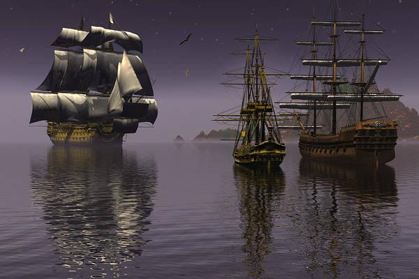 Bryce Digital Art - Prepare To Drop Anchor by Claude McCoy