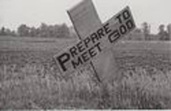 Visual Language Photograph - Prepare To Meet God by Billy Tucker