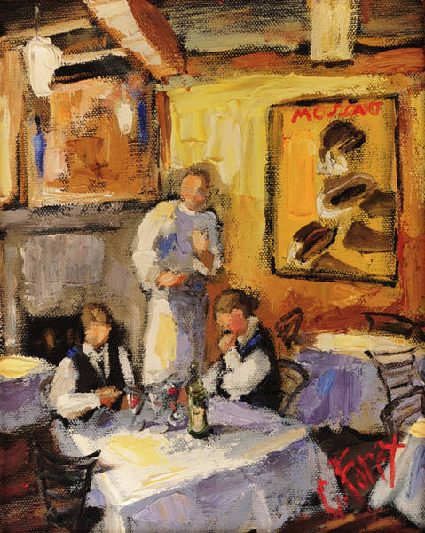 Wall Art - Painting - Preparing For Dinner Time by Carole Foret