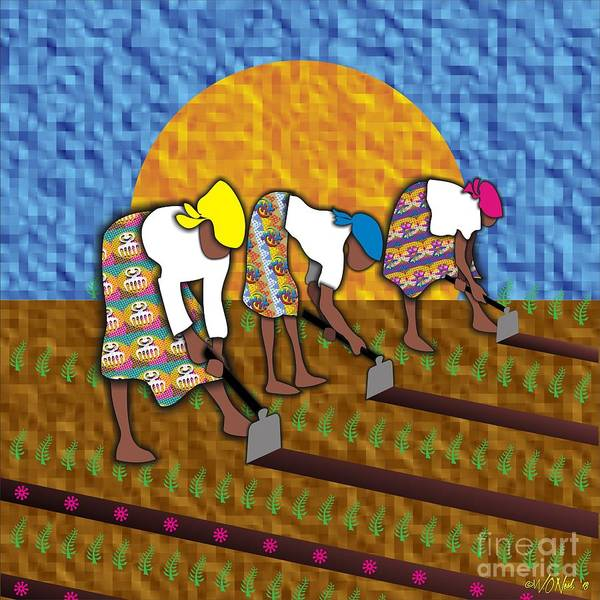 Digital Art - Preparing The Land For Seed by Walter Neal
