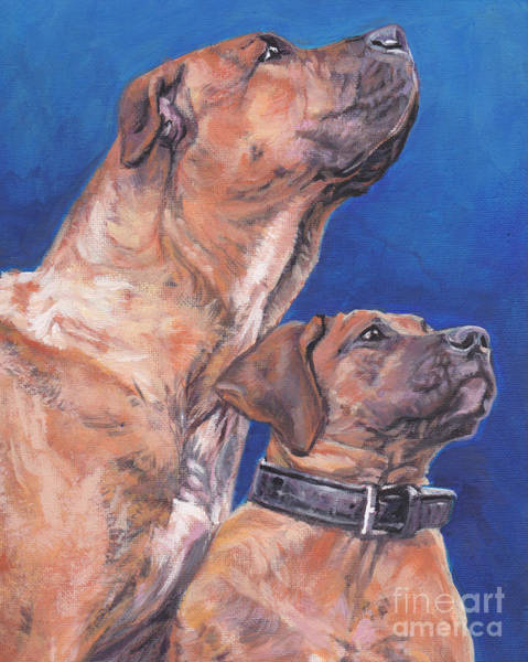 Canaries Painting - Presa Canario by Lee Ann Shepard
