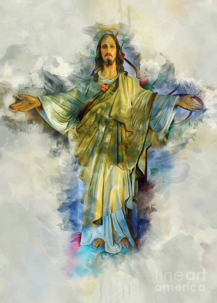 Religious Beliefs Mixed Media - Prescence Of God by Ian Mitchell