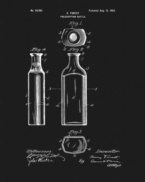 Mixed Media - Prescription Bottle Patent by Dan Sproul