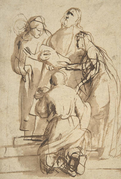 Drawing - Presentation In The Temple by Peter Paul Rubens