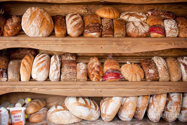 Wall Art - Photograph - Presentation Of Bread Variety by Arletta Cwalina