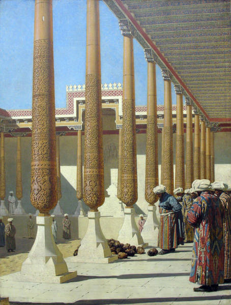 Painting - Presentation Of The Trophies by Vasily Vereshchagin