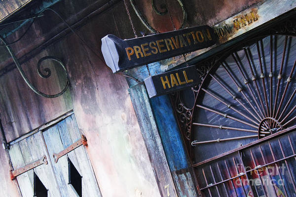 Wall Art - Photograph - Preservation Hall Sign by Jeremy Woodhouse