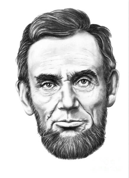Abe Lincoln Drawing - President Abe Lincoln by Murphy Elliott