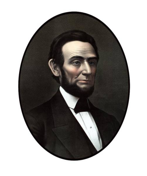 Rail Painting - President Abraham Lincoln  by War Is Hell Store