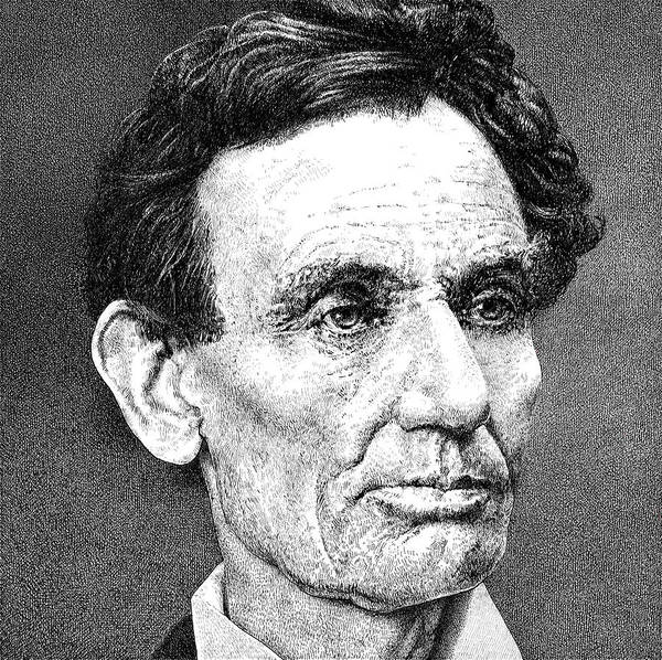 Abe Lincoln Drawing - President Abraham Lincoln by William Beauchamp