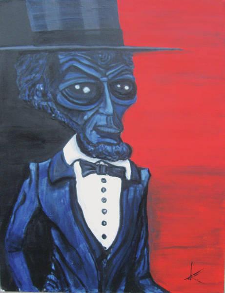 Similar Painting - President Alienham Lincoln by Similar Alien