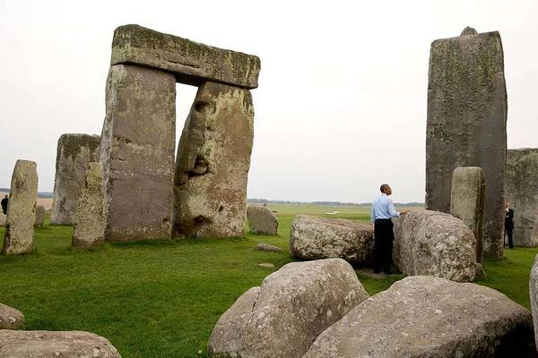 Wall Art - Painting - President Barack Obama At Stonehenge by Celestial Images