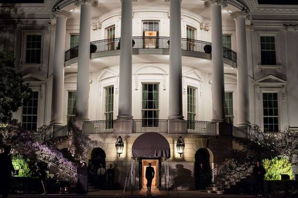 Wall Art - Painting - President Barack Obama Enters The South Portico Of The White House by Celestial Images