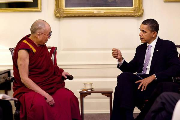 Dalai Lama Wall Art - Photograph - President Barack Obama Met With His by Everett