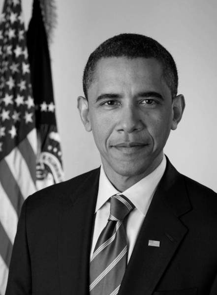 Democratic Party Photograph - President Barack Obama - Official Portrait by War Is Hell Store