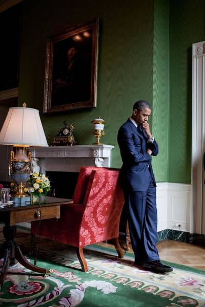2010s Wall Art - Photograph - President Barack Obama Waits by Everett