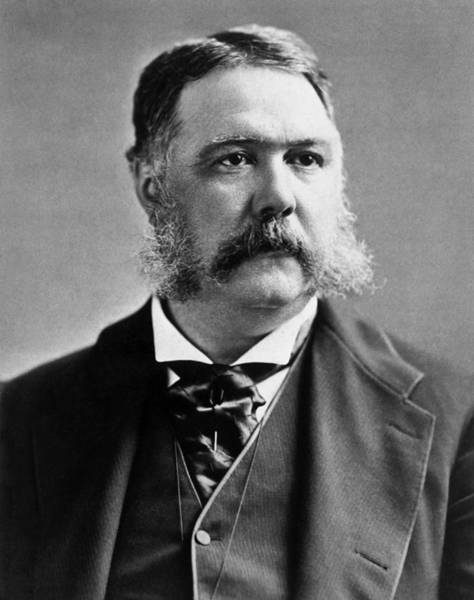 Republican Party Photograph - President Chester Arthur Photo by War Is Hell Store