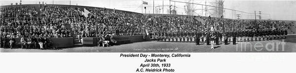 Photograph - President Day - Monterey, California April 30, 1933 by California Views Archives Mr Pat Hathaway Archives
