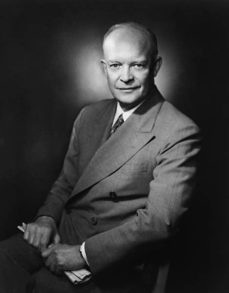 President Photograph - President Dwight Eisenhower - Three by War Is Hell Store