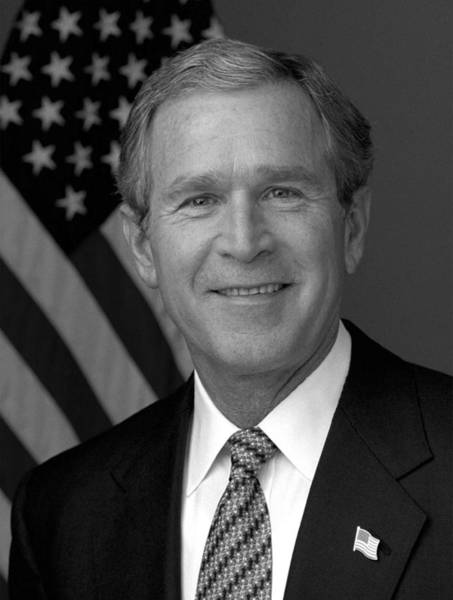 Republican Photograph - President George W. Bush by War Is Hell Store