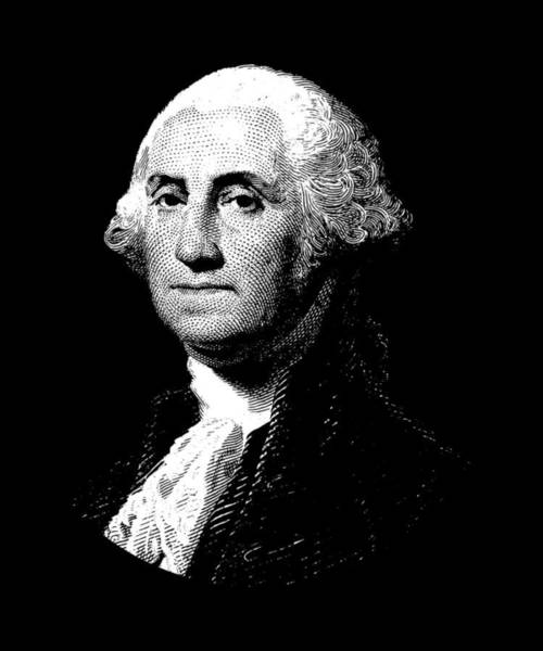 Government Digital Art - President George Washington Graphic  by War Is Hell Store